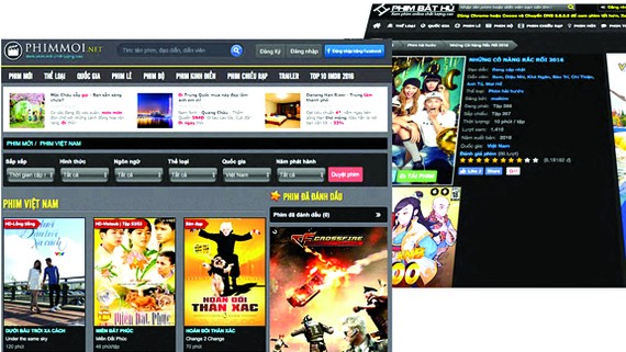 Nhiều trang web vi phạm bản quyền tại Việt Nam đang thu hút lượng lớn người xem. Ảnh: BHD