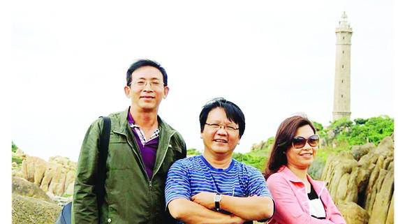 Nhà văn Bùi Nguyễn Trường Kiên trong một chuyến đi thực tế