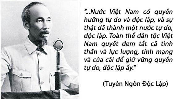 Tuyên ngôn Độc lập: Tượng đài của ý chí độc lập, tự chủ, tự lực, tự cường Việt Nam