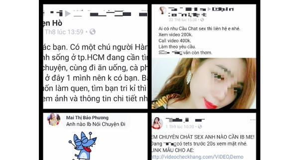 Những lời gạ gẫm kết bạn, chat sex từ các thành viên web hẹn hò đang tấn công mạng xã hội