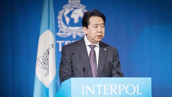 Chủ tịch Interpol Mạnh Hoành Vĩ. Ảnh: Interpol