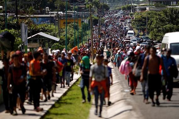 Đoàn di dân với số lượng kỷ lục đang hướng về phía Mỹ. Ảnh: REUTERS