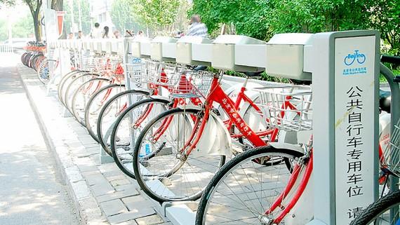 Hệ thống đỗ xe thông minh cho xe đạp dùng chung