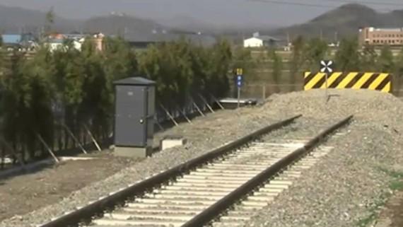Một đoạn đường liên Triều được khôi phục ở phần đất Hàn Quốc. Ảnh: Arirang.