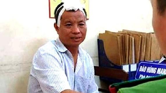 Bị can Nguyễn Văn Tiến bị bắt giữ sau khi gây ra vụ thảm án làm 7 người thương vong