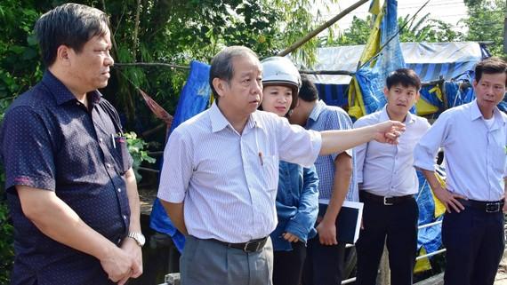 Chủ tịch UBND tỉnh Thừa Thiên - Huế Phan Ngọc Thọ yêu cầu chính quyền địa phương kiểm tra, có giải pháp tháo gỡ, đảm bảo đời sống cho người dân tại Khu tái định cư Lại Tân