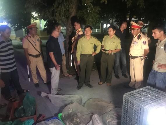 Phòng CSGT Công an tỉnh Thừa Thiên - Huế bắt giữ xe ô tô chở số lượng lớn cá thể rắn không rõ nguồn gốc