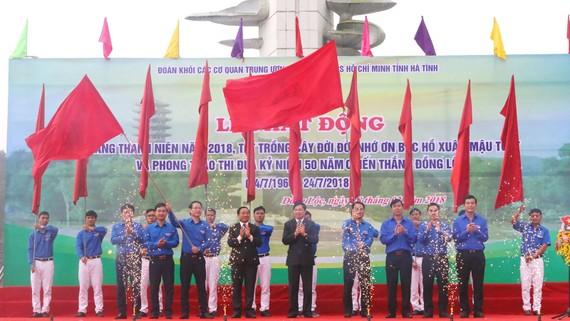 """Lễ phát động Tháng thanh niên năm 2018, Tết trồng cây """"Đời đời nhớ ơn Bác Hồ"""" và phong trào thi đua kỷ niệm 50 năm chiến thắng Đồng Lộc"""