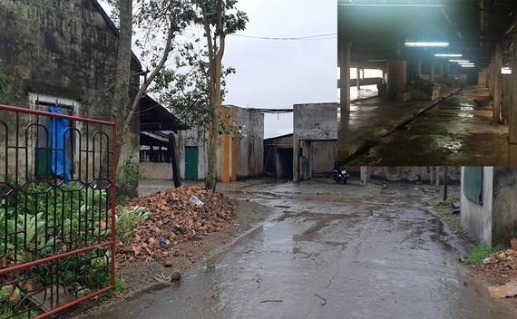 Hiện trường lò mổ, nơi xảy ra vụ án mạng