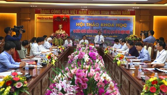 """Quang cảnh Hội thảo khoa học """"50 năm Chiến thắng Đồng Lộc - Giá trị lịch sử và hiện thực"""""""