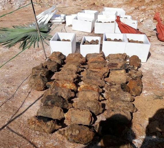 Số đạn, mìn được phát hiện tại vườn nhà dân đã được xử lý an toàn