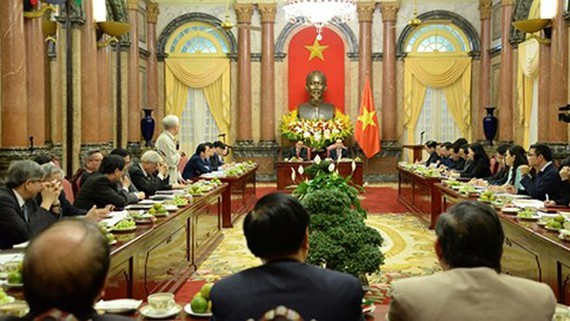 ội nghị tổng kết công tác phối hợp giữa Chủ tịch nước và Đoàn Chủ tịch Ủy ban Trung ương MTTQ Việt Nam. Ảnh: VOV