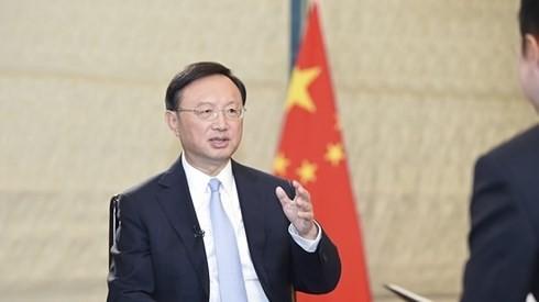 Ủy viên Hội đồng Nhà nước Trung Quốc Dương Khiết Trì. Ảnh: CGTN