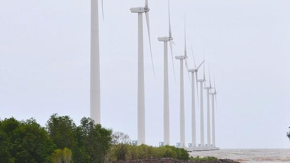 Điện gió, nguồn năng lượng tái tạo thực hiện thành công tại Bạc Liêu      Ảnh: CAO THĂNG