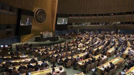 Phiên họp của Đại hội đồng Liên hiệp quốc. Ảnh: TTXVN