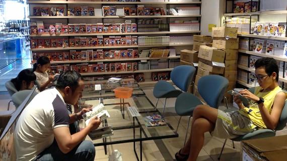 Không gian truyện tranh là nơi thu hút nhiều độc giả trẻ