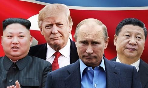 Mỹ thông báo lệnh trừng phạt mới nhằm vào Nga và Trung Quốc với cáo buộc vi phạm cấm vận thương mại với Triều Tiên. (Ảnh minh hoạ: CNN)