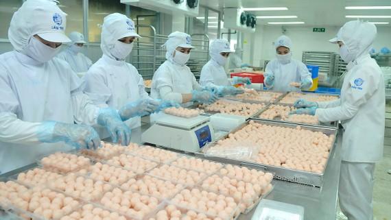 Chế biến thực phẩm tại CJ Cầu Tre       Ảnh: CAO THĂNG