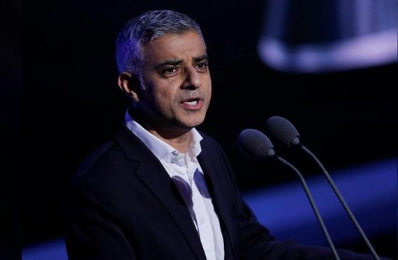 Thị trưởng London Sadiq Khan. Nguồn: REUTERS