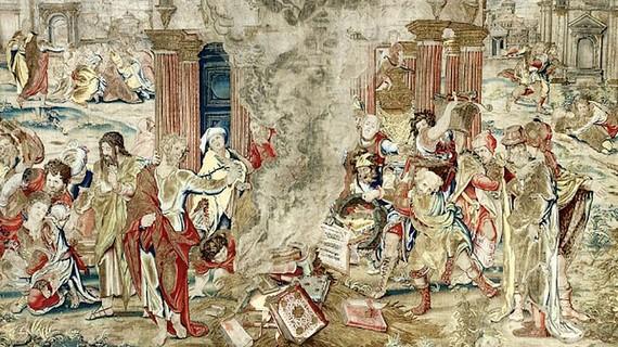 Lần đầu trưng bày tấm thảm huyền thoại của vua Anh Henry VIII
