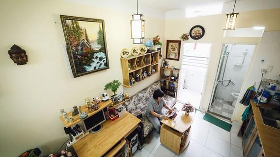 Căn hộ 22m² tại chung cư Thái An 4 (TPHCM). Ảnh: HUY ANH