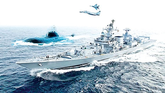 Cuộc tập trận hải quân Malabar gồm Mỹ - Nhật Bản - Ấn Độ vào tháng 7-2017