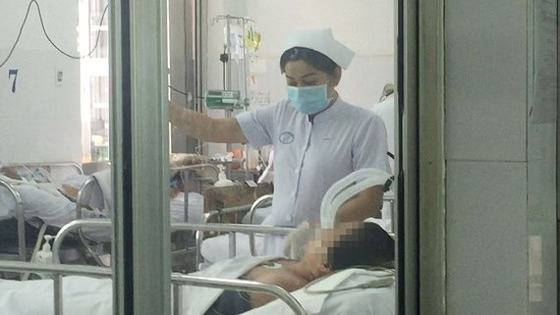Bệnh nhân nhiễm cúm A/H1N1 đang nằm trong phòng cách ly tại bệnh viện Chợ Rẫy