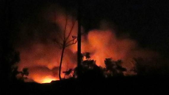 Một vụ nổ tại sân bay quân sự Mazzeh ở Damascus (Syria) hồi tháng 1