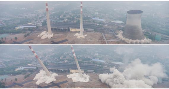 Trung Quốc phá dỡ nhà máy nhiệt điện