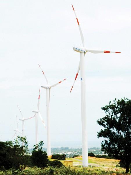 Điện gió tại Bình Thuận.   Ảnh: THÀNH TRÍ