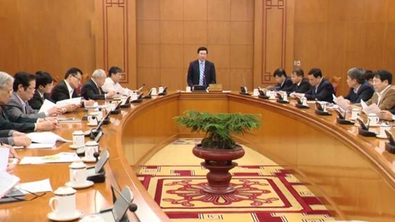 Toàn cảnh Hội nghị Tổng kết hoạt động của Ban Chỉ đạo quốc gia Năm Đoàn kết hữu nghị Việt Nam - Lào 2017 và Năm Hữu nghị Việt Nam - Campuchia 2017