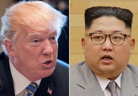 Tổng thống Mỹ Donald Trump và nhà lãnh đạo Triều Tiên Kim Jong-un. Ảnh: AP, KCNA.