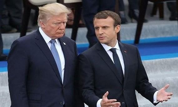 Tổng thống Pháp Macron đang có chuyến thăm Mỹ. Ảnh: UPI.