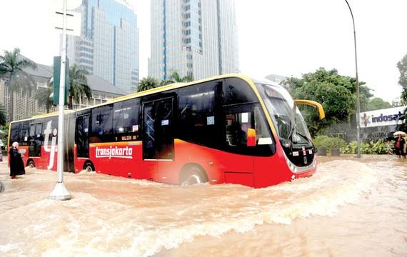 Lụt lội  ở  Jakarta
