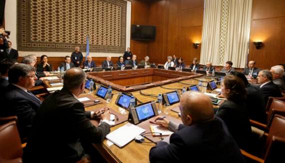 Một vòng đàm phán hòa bình về Syria tại Geneve, Thụy Sĩ. (Ảnh: AP)