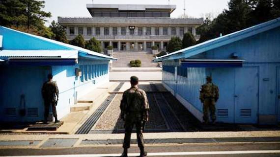 Làng đình chiến Panmunjom. Ảnh: Reuters