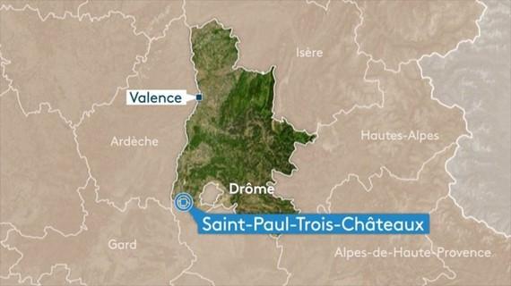 Vị trí xảy ra vụ tấn công bằng dao. (Nguồn: France 3 RA)
