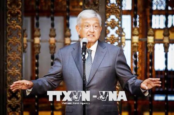 Tổng thống đắc cử Mexico Andres Manuel Lopez Obrador. Ảnh: EFE/TTXVN