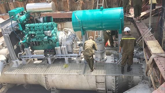 Hệ thống bơm chống ngập trên đường Nguyễn Hữu Cảnh