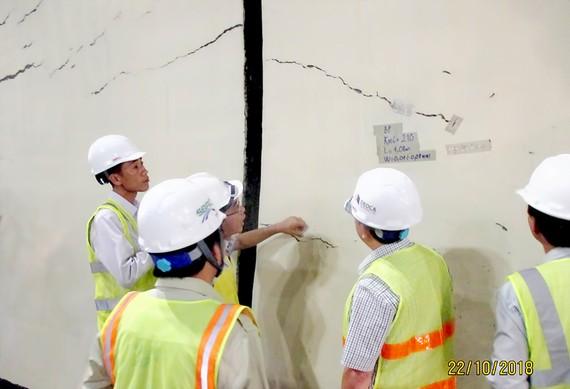 Hầm Hải Vân 1 xuất hiện chi chít vết rạn nứt