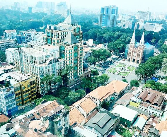 Quy chế quản lý kiến trúc khu trung tâm, đảm bảo cảnh quan và không gian cho cây xanh       Ảnh: HUY ANH
