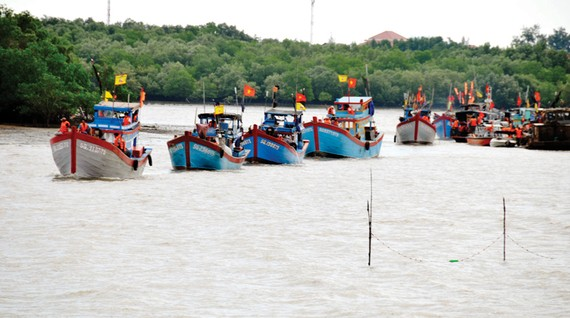 Tàu cá tại cảng thị trấn Cần Thạnh, huyện Cần Giờ, TPHCM. Ảnh: CAO THĂNG