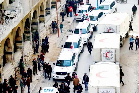 Chuyến hàng viện trợ đầu tiên đến Ghouta buộc phải đình chỉ