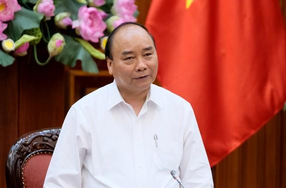 Thủ tướng Nguyễn Xuân Phúc phát biểu tại cuộc làm việc. Ảnh: VGP