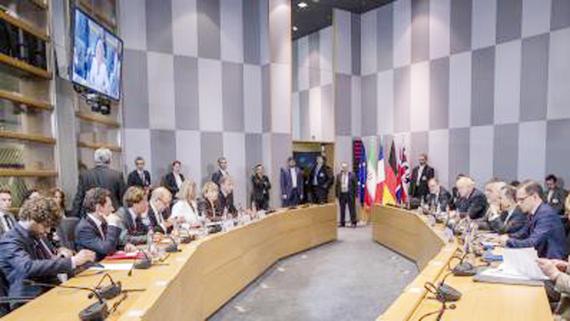Toàn cảnh cuộc họp giữa Đại diện cấp cao EU về chính sách an ninh và đối ngoại Federica Mogherini với Ngoại trưởng Iran, Anh, Pháp và Đức tại Brussels, Bỉ ngày 15-5