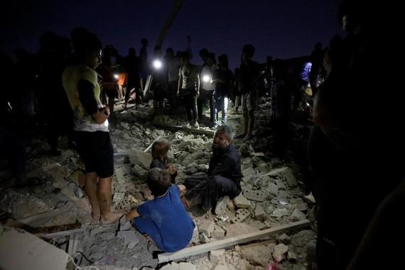 Hiện trường vụ nổ. Ảnh: Reuters