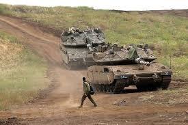 Binh sỹ Israel tham gia một cuộc tập trận tại khu vực cao nguyên Golan