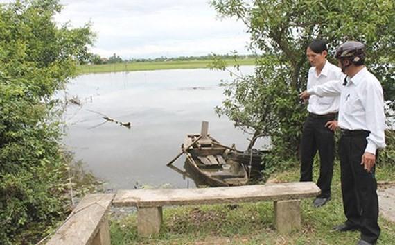 Dấu tích bến phà dã chiến (cũ) ở cuối làng K130 bên sông Già