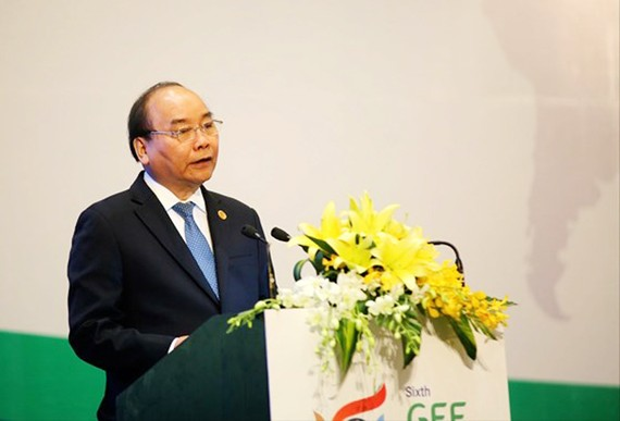 Thủ tướng Nguyễn Xuân Phúc phát biểu tại phiên khai mạc kỳ họp GEF 6