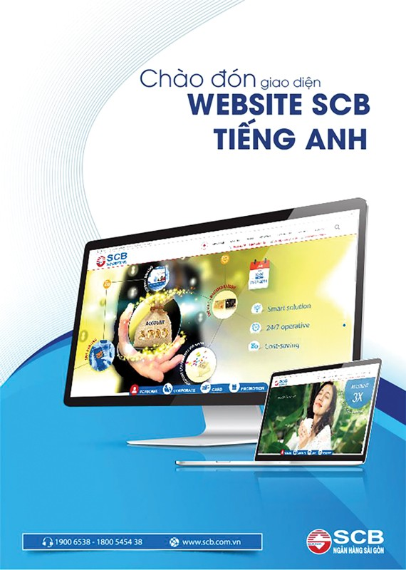SCB ra mắt giao diện website tiếng Anh